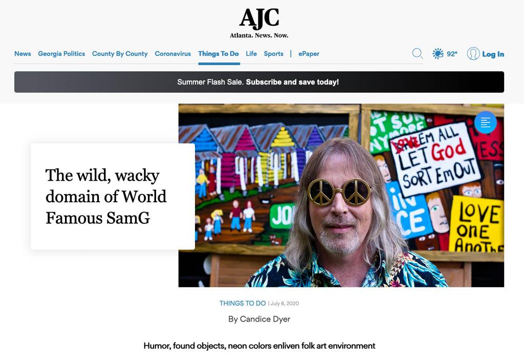 Atlanta Journal-Constitution feature on Sam Granger