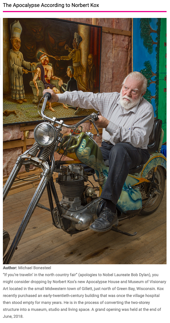 Article on Norbert Kox with photography by Fred Scruton in Raw Vision Magazine
