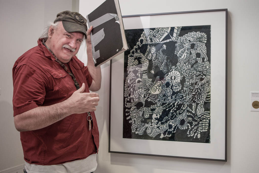 Frank Novel at Erie (Pennsylvania) Art Museum Opening; 2014