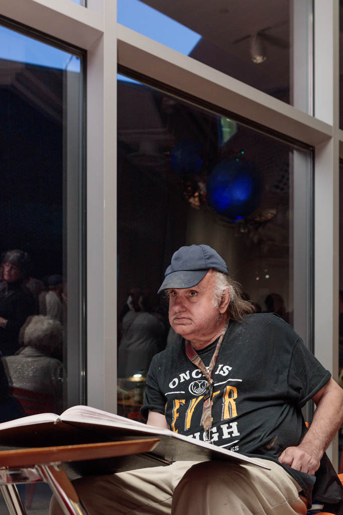 Frank Novel at Erie (Pennsylvania) Art Museum Opening; 2016
