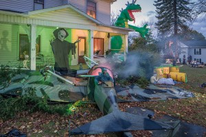 Lohr Family Halloween Display; Albion, PA 2013 (a)