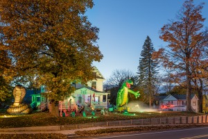 Lohr Family Halloween Display; Albion, PA 2015 (a)