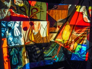 Ron Mann's recent Slide Projections and re-photography of his Paintings 2013