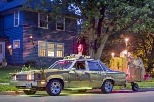 """Melanie Harris' """"Tiki Car;"""" Toledo, OH 2013"""