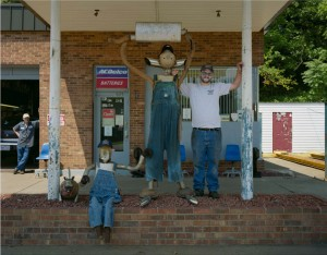Jerry Siverd's display for Modern Muffler and Auto Repair; Mt. Airy, NC 2008