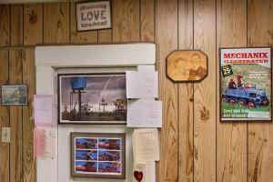 Mel Gould's living room wall; Cheyenne, WY 2014