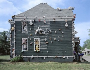 The 'animal house' (destroyed by fire 2014) Tyree Guyton's The Heidelberg Project, 2005