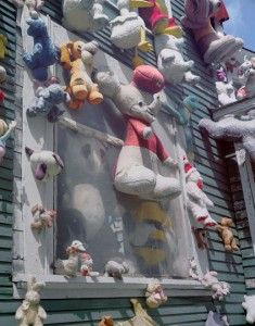 The 'animal house' (destroyed by fire 2014) Tyree Guyton's The Heidelberg Project, 2006