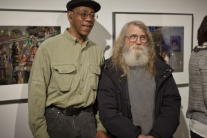 Willie and Bill in front of their pictures