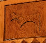 Prophet Isaiah Robertson woodworking detail at the Mount Erie Baptist Church; Niagara Falls, NY