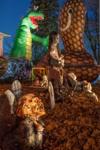 David Lohr's Halloween Display; Albion, PA 2012