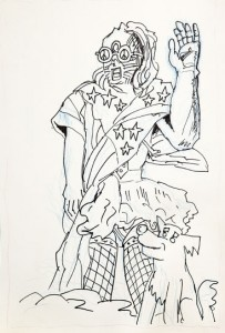 Chim Beoddy drawing, 2012