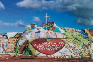 Salvation Mountain postcard from Leonard Knight