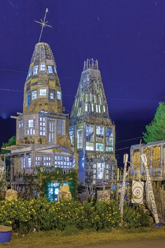 Dominic Espinoza's castle at night