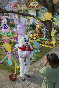Peter Cottontail at Steve Kaselak's Jellybeanville; Cleveland, OH 2015
